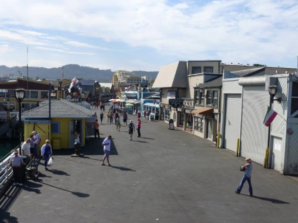 Looking back along Fisherman's Wharf from the top of the restaurant at the end