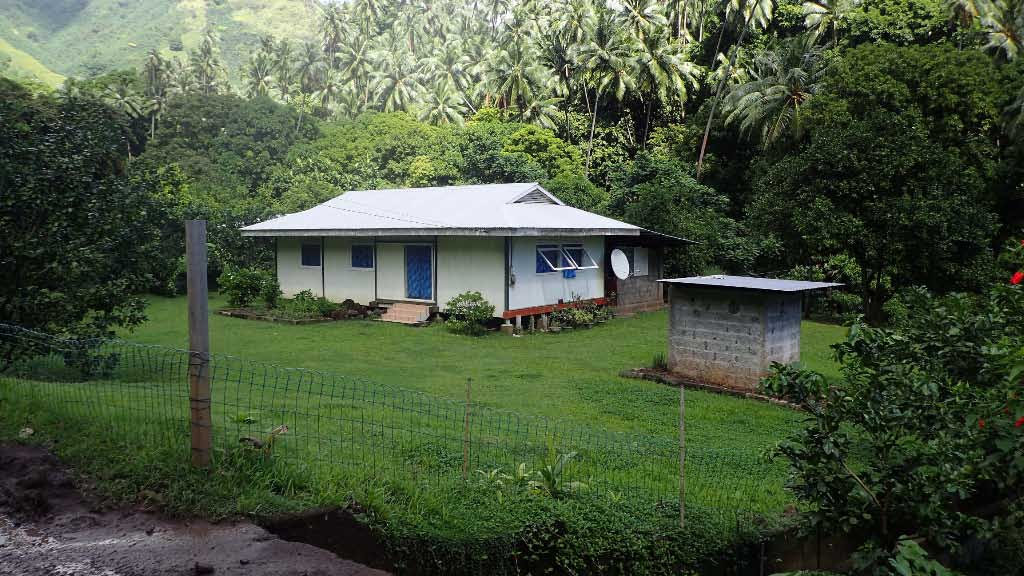 Typical Marquesan village home