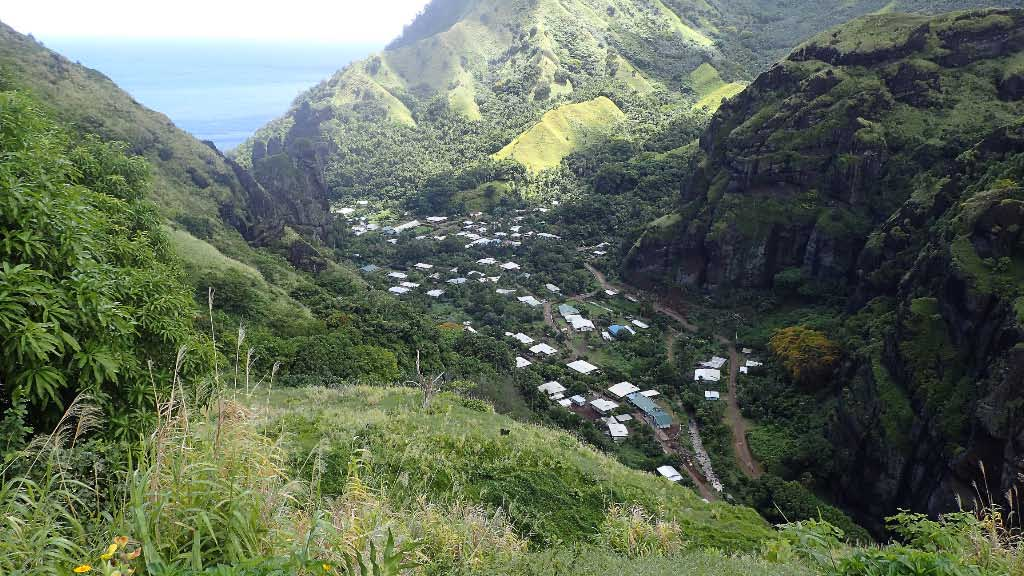 Village at Fatu Hiva anchorage