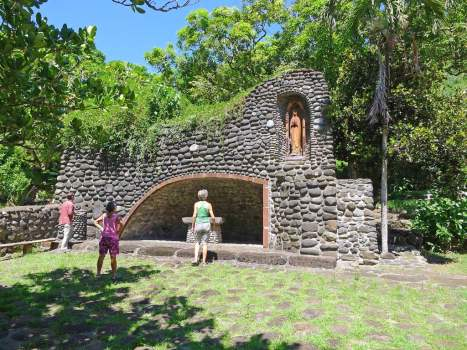 A gotto was built, presumabely for baptisms. The tradition of stone ceremonial sites continues.