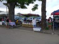 Local vendors offer food and produce on weekend mornings.