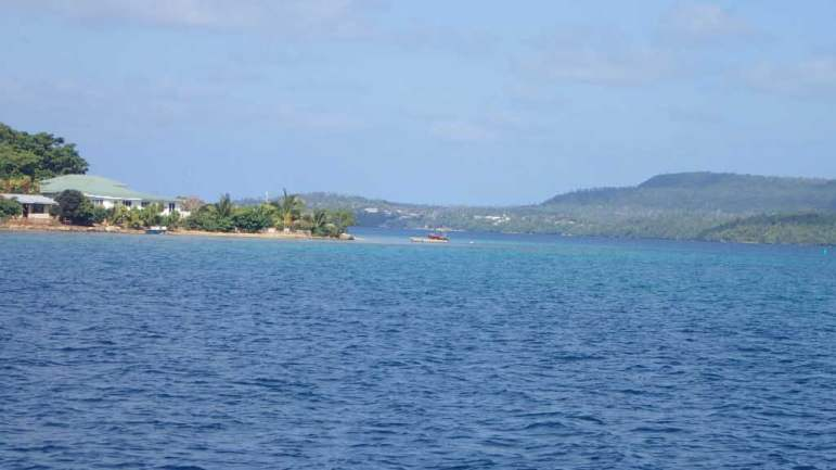 Part of the entrance to the harbor at Neiafu.