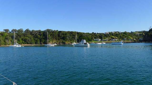 Tutukaka Harbor anchorage on North Island's east cost between Bay of Islands and Whangarei