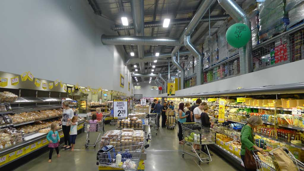 Inside Pack 'n' Save. Think: Costco, but no membership required.