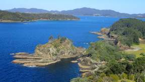 Bay of Islands, so named by Capt. James Cook for the numerous, rugged islands.