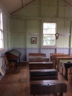 School house. Note picture of Queen Victoria on back wall.