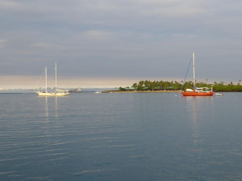 Anchorage and resort off Bakana Island, in the bay in front of Lautoka.